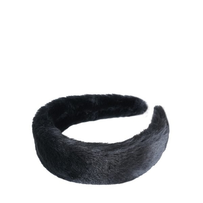 Cocobella Emelie Faux Fur Hiuspanta Musta