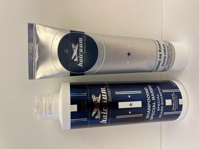 Hairgum Beard Shampoo & Shave Cream Lahjapakkaus Miehille