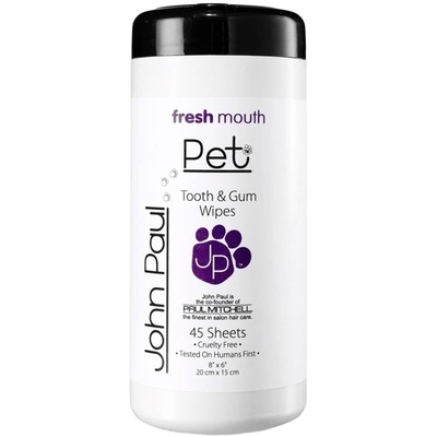 John Paul Pet Tooth & Gum Pet Wipes 45kpl