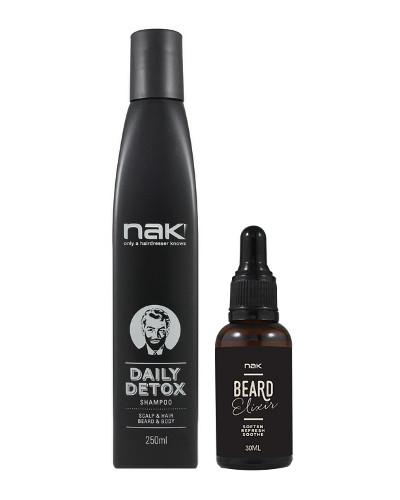 NAK HAIR Men`s Grooming Shampoo + Öljy Lahjapakkaus