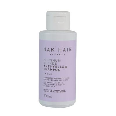 NAK HAIR Platinum Blonde Anti-Yellow Shampoo 100ml