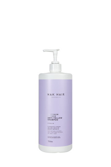 NAK HAIR Platinum Blonde Anti-Yellow Shampoo 1L