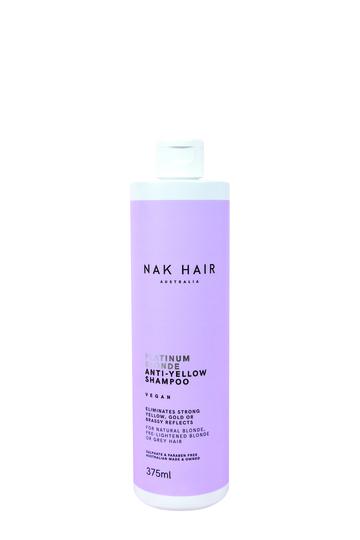 NAK HAIR Platinum Blonde Anti-Yellow Shampoo 375ml