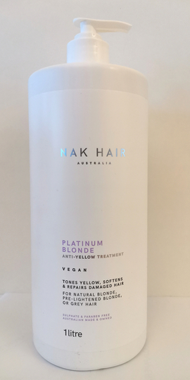 NAK HAIR Platinum Blonde Anti-Yellow Treatment 1000ml