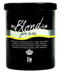 SIM Blond For Ever Vaalennusjauhe ammoniakiton TÄYTTÖPUSSI 500g